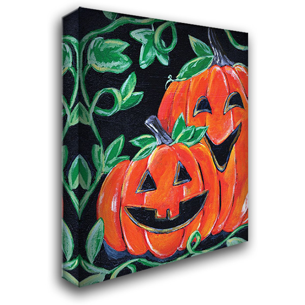Halloween Pumpkins 28x36 Gallery Wrapped Stretched Canvas Art by Seay, Anne