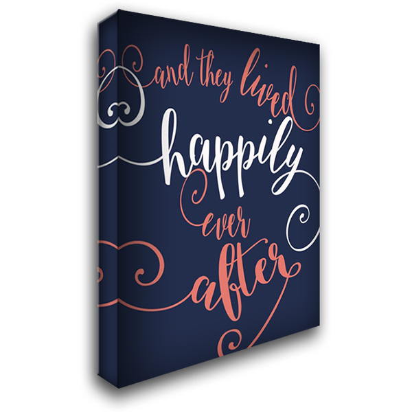 Happily Ever After - Navy 28x36 Gallery Wrapped Stretched Canvas Art by Rogosich, Alli