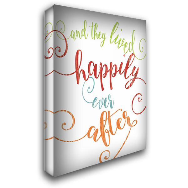 Happily Ever After - White 28x36 Gallery Wrapped Stretched Canvas Art by Rogosich, Alli