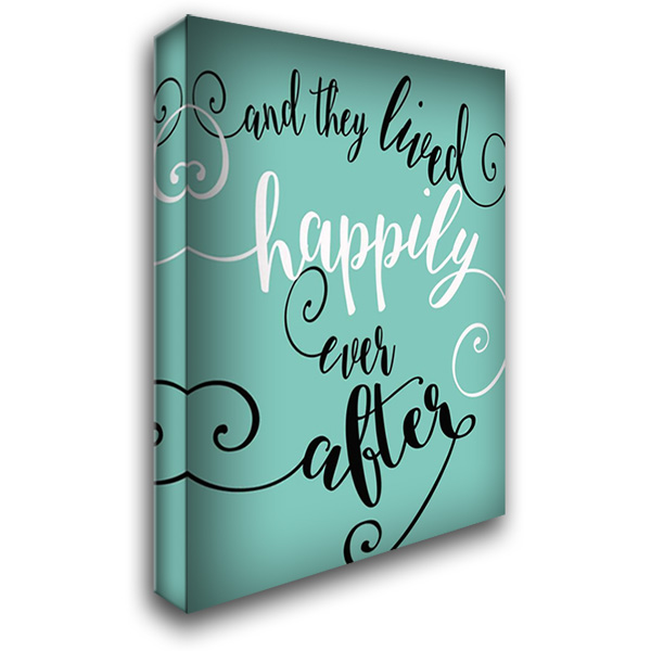 Happily Ever After - Aqua 28x36 Gallery Wrapped Stretched Canvas Art by Rogosich, Alli