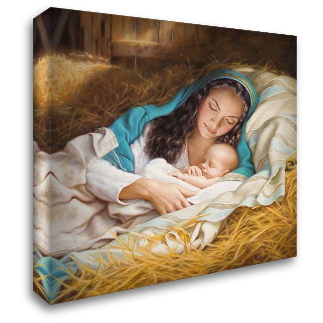 Mary and Baby Jesus 28x28 Gallery Wrapped Stretched Canvas Art by Missman, Mark