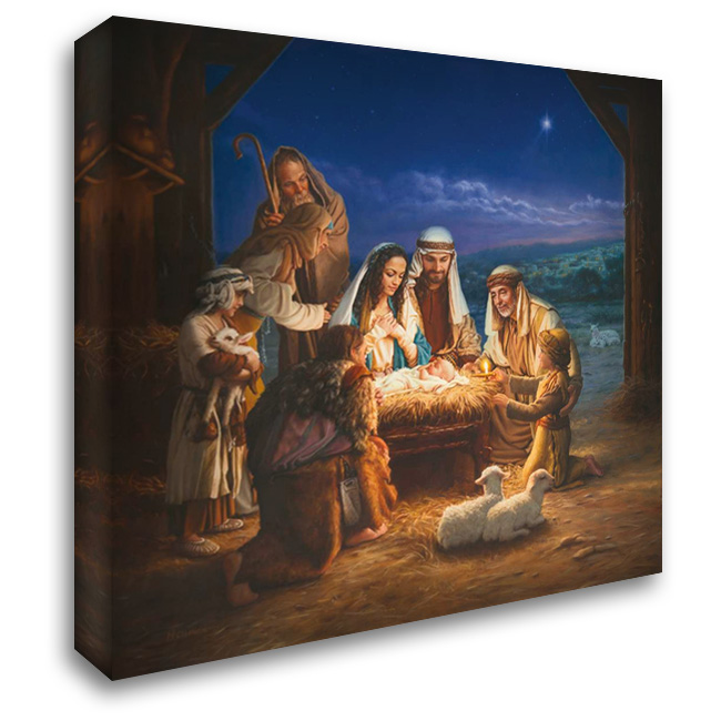 Holy Night 28x28 Gallery Wrapped Stretched Canvas Art by Missman, Mark