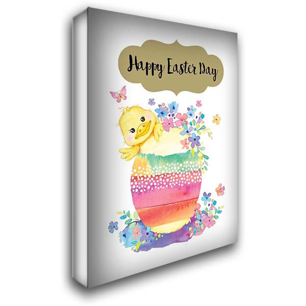 Happy Easter 28x38 Gallery Wrapped Stretched Canvas Art by A.V. Art