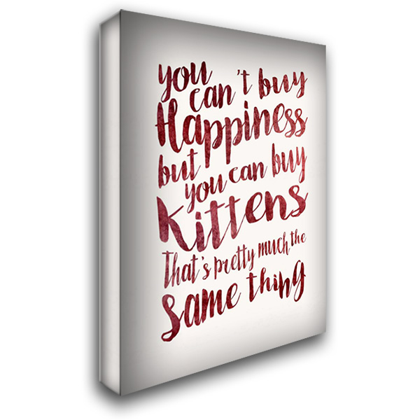 Happiness Kittens 28x40 Gallery Wrapped Stretched Canvas Art by Niele, Cora