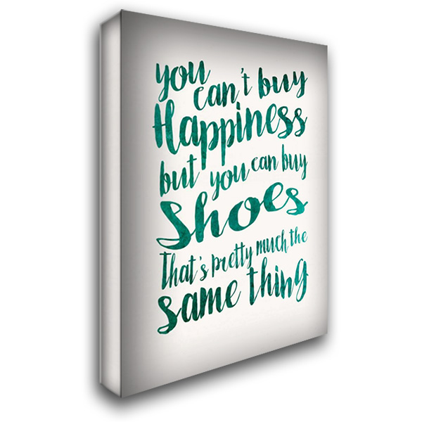 Happiness Shoes 28x40 Gallery Wrapped Stretched Canvas Art by Niele, Cora