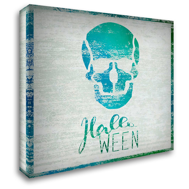 Halloween Skull 28x28 Gallery Wrapped Stretched Canvas Art by Niele, Cora