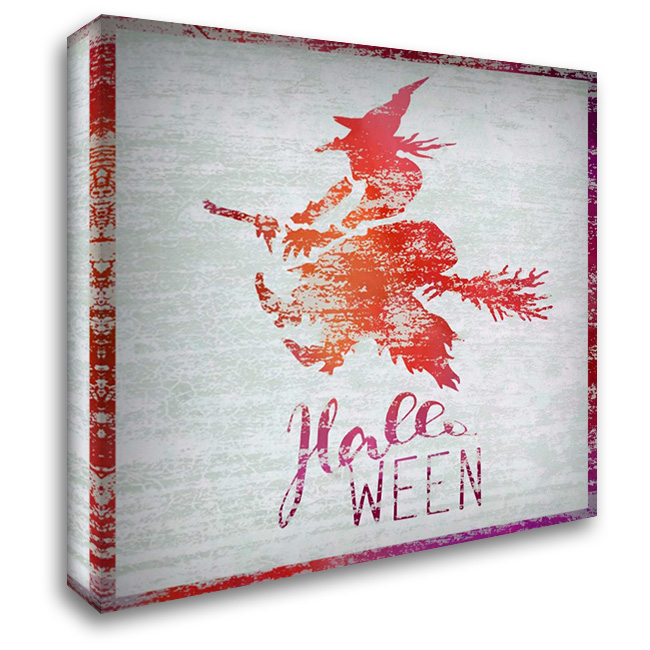 Halloween Witch 28x28 Gallery Wrapped Stretched Canvas Art by Niele, Cora