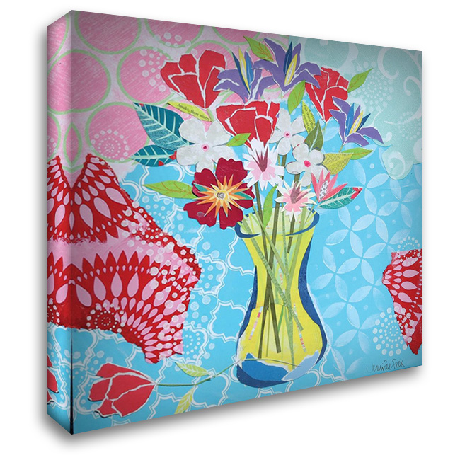 Happy Day Bouquet 28x28 Gallery Wrapped Stretched Canvas Art by Peck, Jennifer