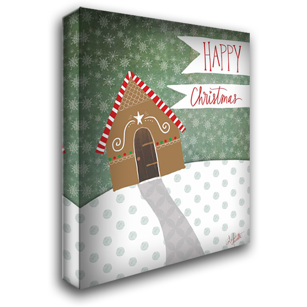 Happy Christmas 28x36 Gallery Wrapped Stretched Canvas Art by Doucette, Katie