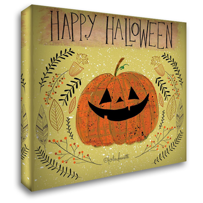 Happy Halloween 28x28 Gallery Wrapped Stretched Canvas Art by Doucette, Katie
