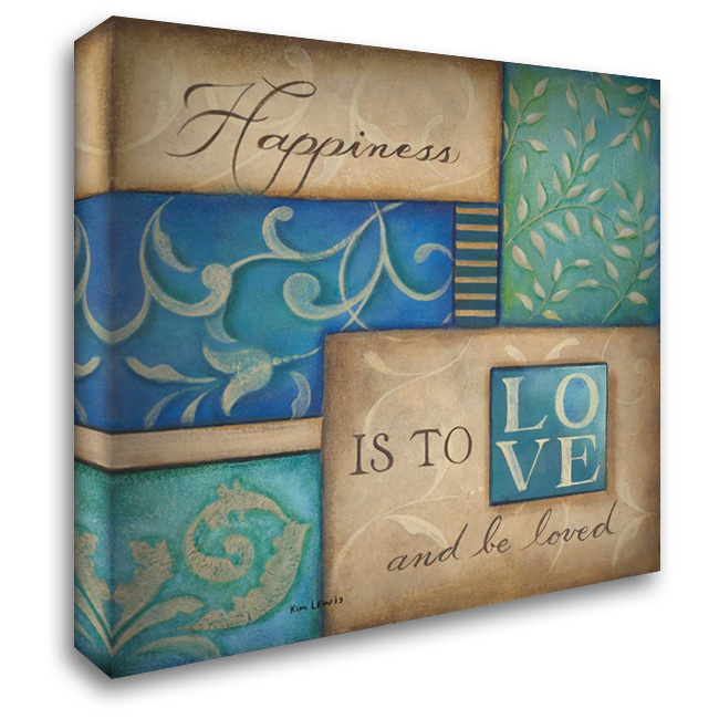 Happiness 28x28 Gallery Wrapped Stretched Canvas Art by Lewis, Kim