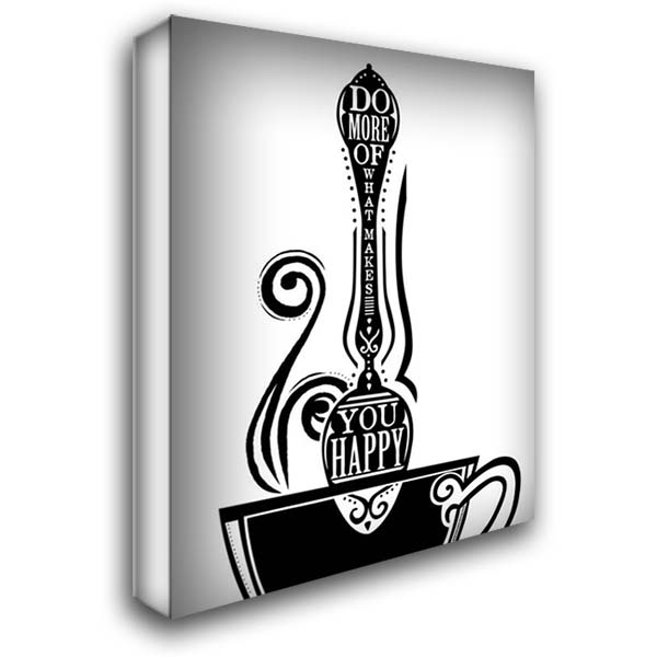 Do More Spoon 28x36 Gallery Wrapped Stretched Canvas Art by Longfellow Designs