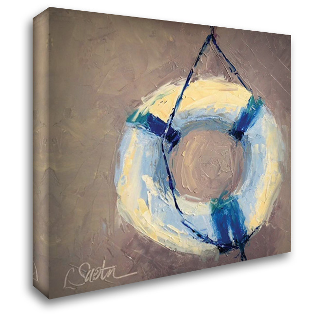 Hangin 28x28 Gallery Wrapped Stretched Canvas Art by Saeta, Leslie