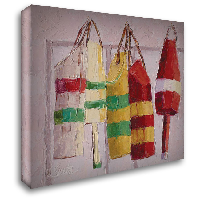 Hanging Around 28x28 Gallery Wrapped Stretched Canvas Art by Saeta, Leslie
