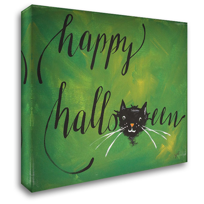 Happy Halloween 36x28 Gallery Wrapped Stretched Canvas Art by Strong, Molly Susan
