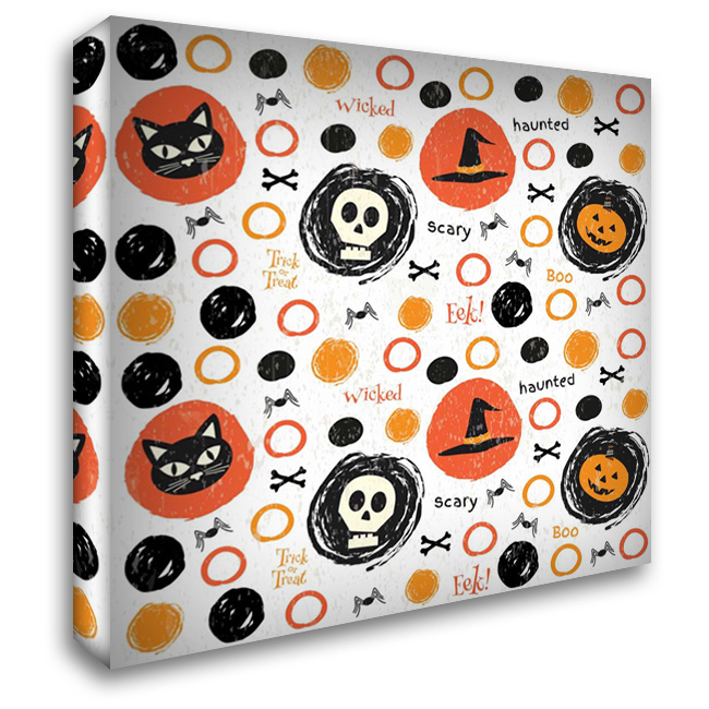 Hallows Eve IV 28x28 Gallery Wrapped Stretched Canvas Art by ND Art and Design