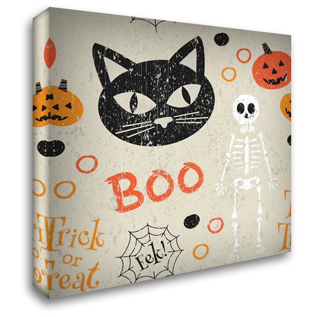 Hallows Eve VI 28x28 Gallery Wrapped Stretched Canvas Art by ND Art and Design