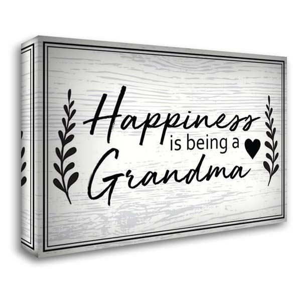 Happiness is Being a Grandma 40x28 Gallery Wrapped Stretched Canvas Art by ND Art