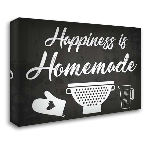 Happiness is Homemade 40x28 Gallery Wrapped Stretched Canvas Art by ND Art