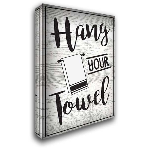 Hang Your Towel 28x40 Gallery Wrapped Stretched Canvas Art by ND Art