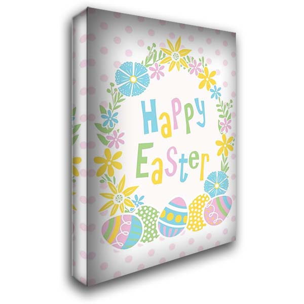 Happy Easter 28x40 Gallery Wrapped Stretched Canvas Art by ND Art