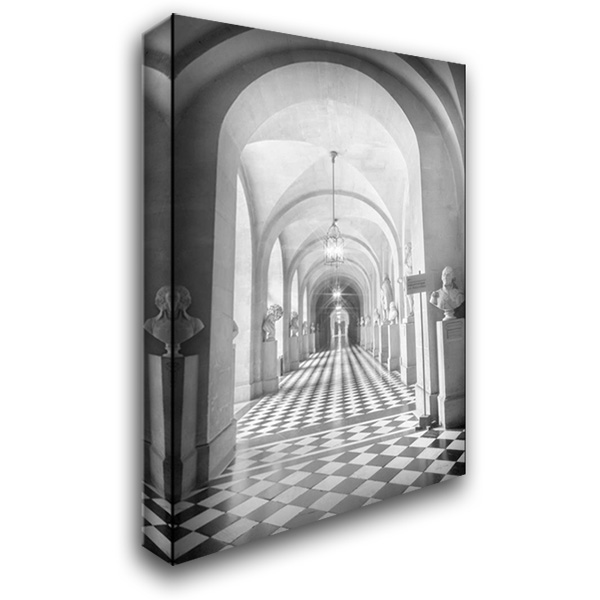 Hall at Versailles 25x35 Gallery Wrapped Stretched Canvas Art by Murdock, Ramona
