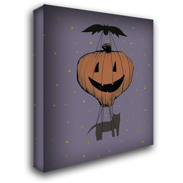 Halloween Pumpkin Balloon 28x34 Gallery Wrapped Stretched Canvas Art by Ogren, Sarah