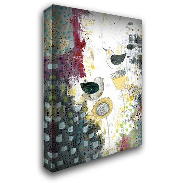 Hanging Out 28x40 Gallery Wrapped Stretched Canvas Art by Ogren, Sarah