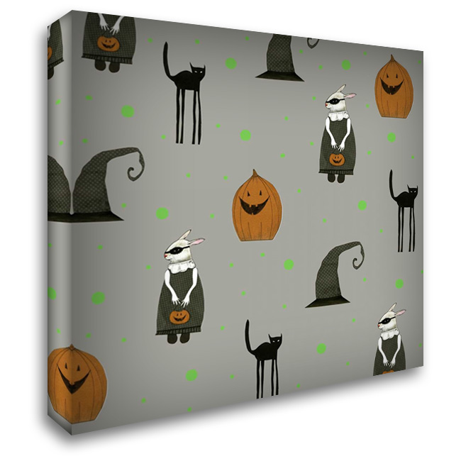 Halloween Pattern 28x28 Gallery Wrapped Stretched Canvas Art by Ogren, Sarah