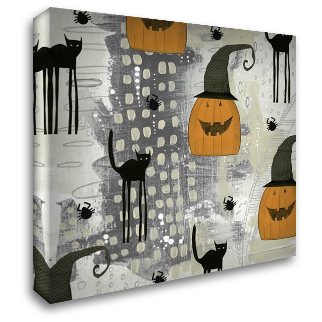 Halloween Pattern 2 28x28 Gallery Wrapped Stretched Canvas Art by Ogren, Sarah