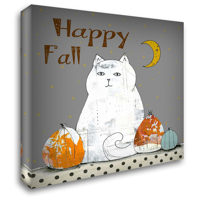 Happy Fall 28x28 Gallery Wrapped Stretched Canvas Art by Ogren, Sarah