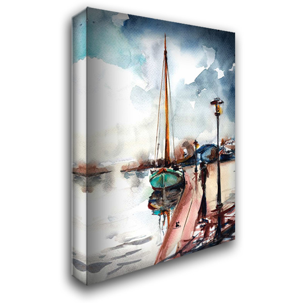 Docked 28x36 Gallery Wrapped Stretched Canvas Art by Rodionov, Sophia