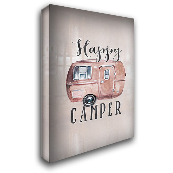 Happy Camper 28x40 Gallery Wrapped Stretched Canvas Art by Moss, Tara