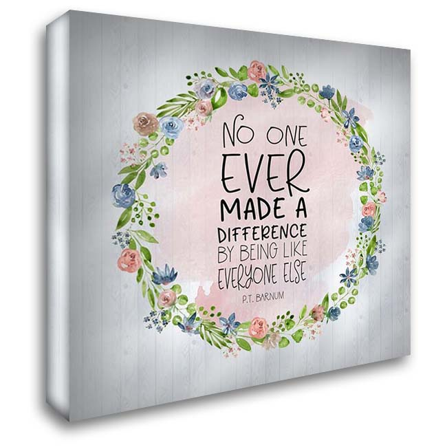 Difference Quote II 28x28 Gallery Wrapped Stretched Canvas Art by Moss, Tara