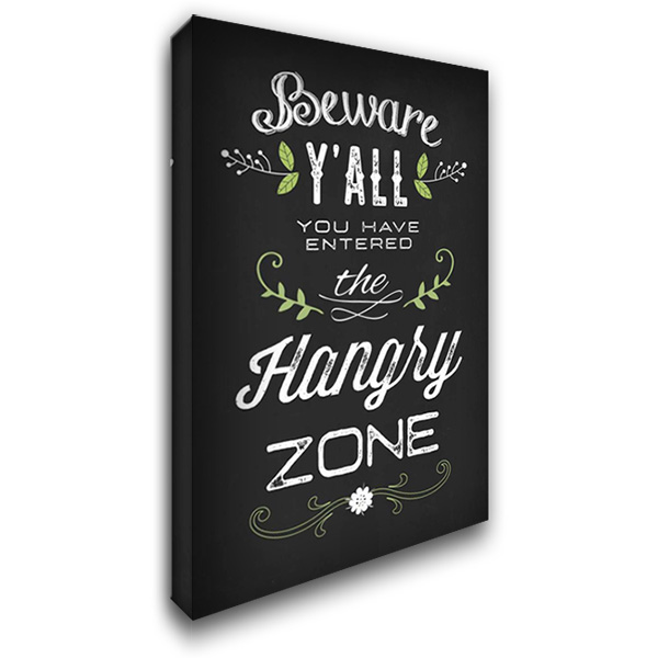 Hangry Zone 26x40 Gallery Wrapped Stretched Canvas Art by Apple, Tammy