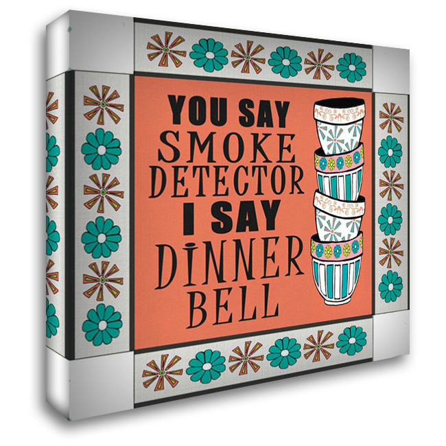 Dinner Bell 28x28 Gallery Wrapped Stretched Canvas Art by Welsh, Shanni