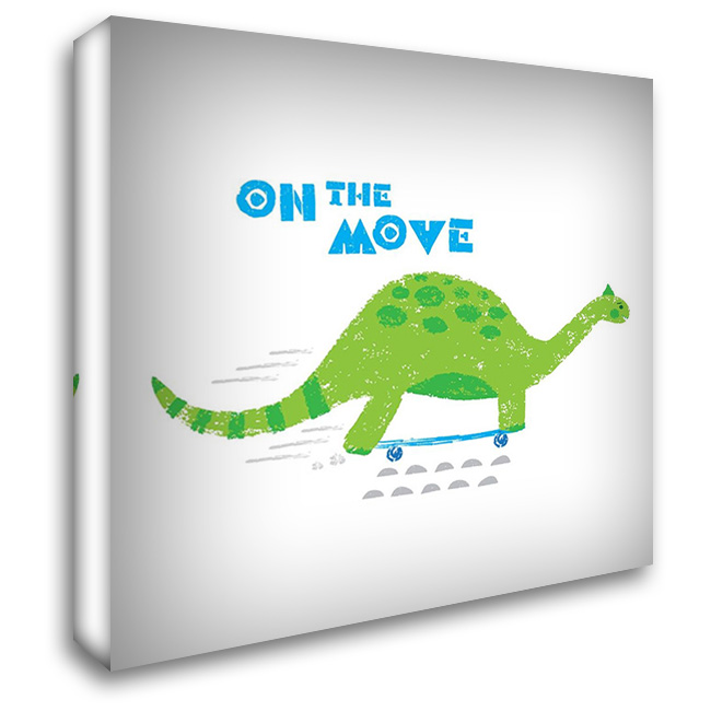 Dinos on the Move I 28x28 Gallery Wrapped Stretched Canvas Art by Noonday Design