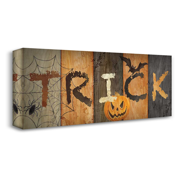 Halloween Trick 40x19 Gallery Wrapped Stretched Canvas Art by Coulter, Cynthia