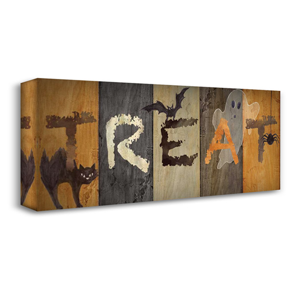 Halloween Treat 40x19 Gallery Wrapped Stretched Canvas Art by Coulter, Cynthia