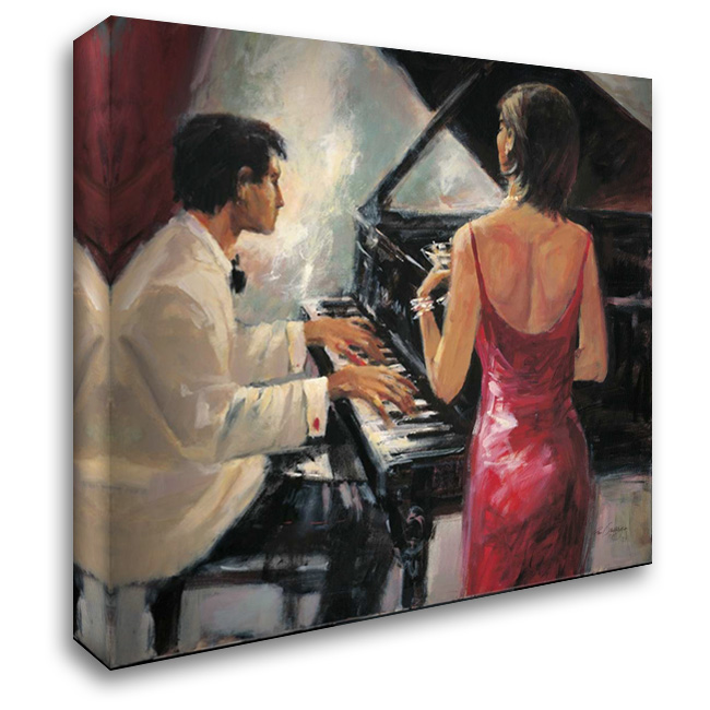 Divas Song 28x28 Gallery Wrapped Stretched Canvas Art by Santiago, Paul