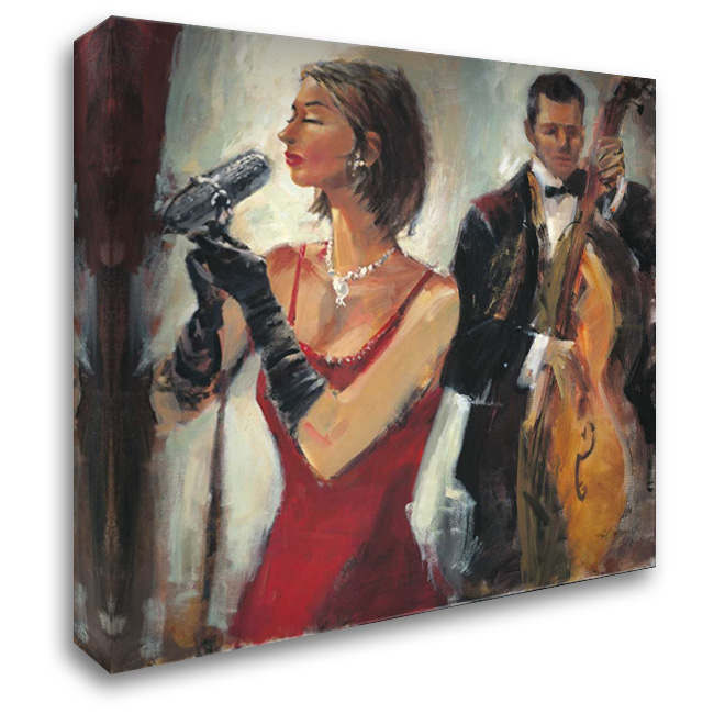 Divas Solo 28x28 Gallery Wrapped Stretched Canvas Art by Santiago, Paul