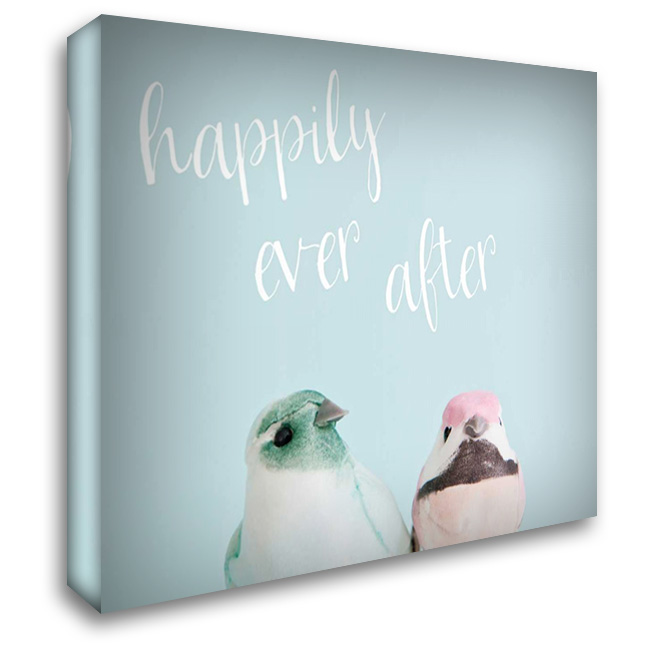 Happily Ever After Love Birds 36x28 Gallery Wrapped Stretched Canvas Art by Susannah Tucker Photography