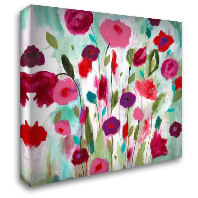 Happy Garden 28x28 Gallery Wrapped Stretched Canvas Art by Schmitt, Carrie