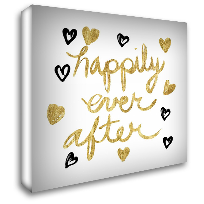 Happily Ever After! Gold 28x28 Gallery Wrapped Stretched Canvas Art by Taylor, Evangeline
