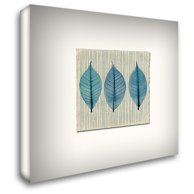 Handmade Paper and Leaves 28x28 Gallery Wrapped Stretched Canvas Art by Taylor, Evangeline