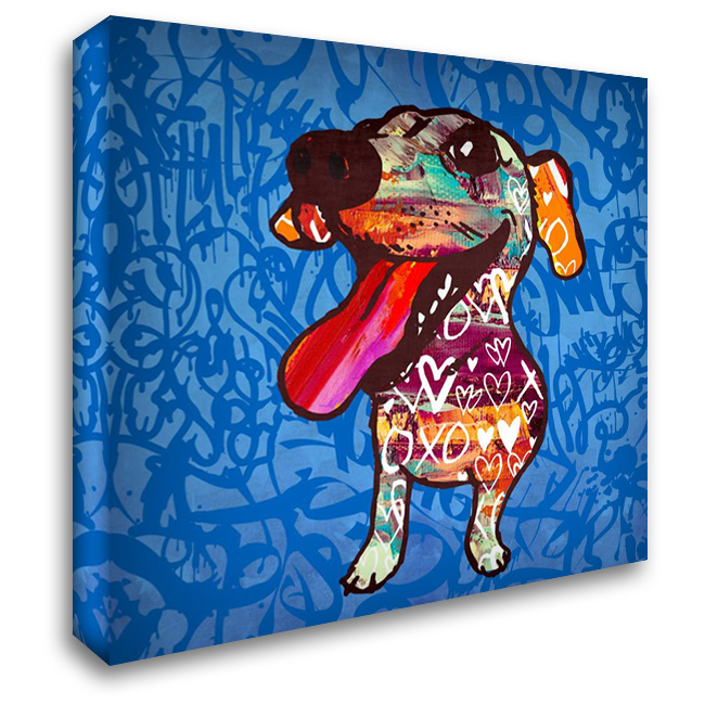 Happy Barks! 28x28 Gallery Wrapped Stretched Canvas Art by Taylor, Evangeline