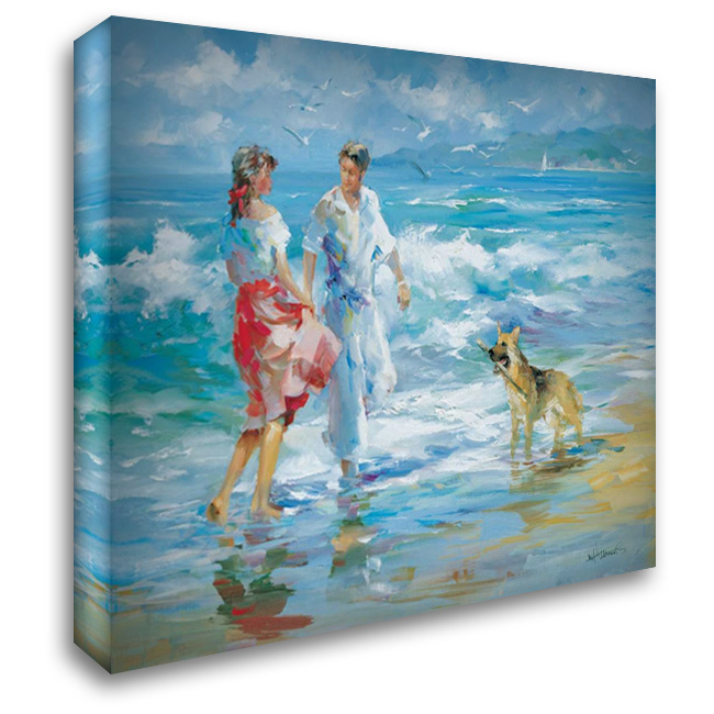 Happy family I 34x28 Gallery Wrapped Stretched Canvas Art by Haenraets, Willem