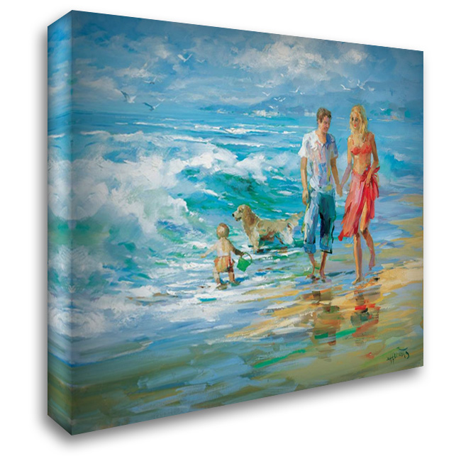 Happy family II 34x28 Gallery Wrapped Stretched Canvas Art by Haenraets, Willem