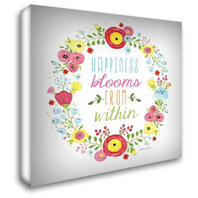 Happiness Blooms 28x28 Gallery Wrapped Stretched Canvas Art by Marrott, Stephanie