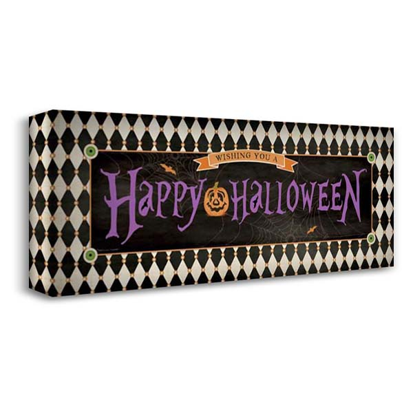 Happy Halloween II 40x18 Gallery Wrapped Stretched Canvas Art by Marrott, Stephanie